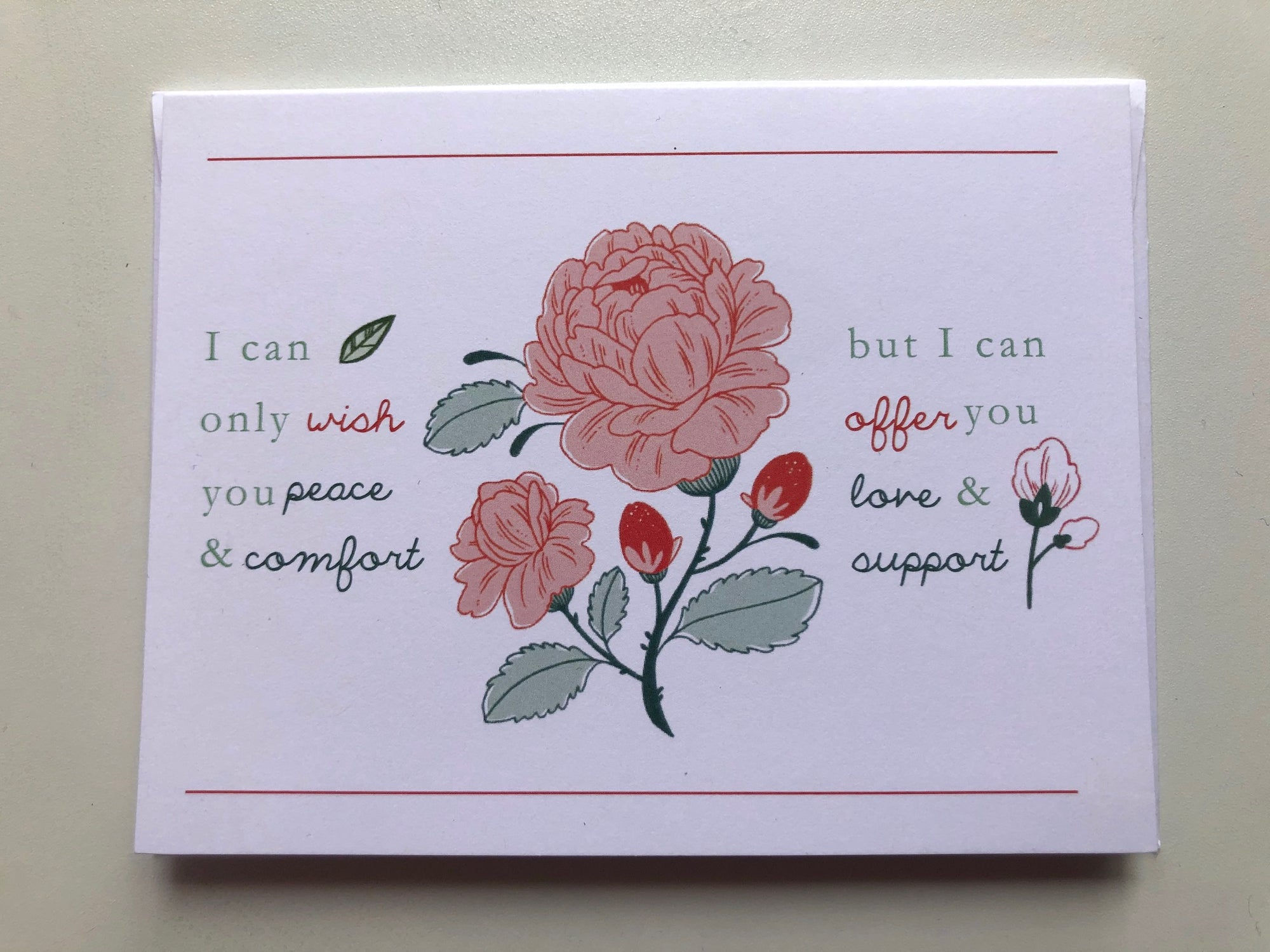 Peace & Comfort, Love & Support Cards