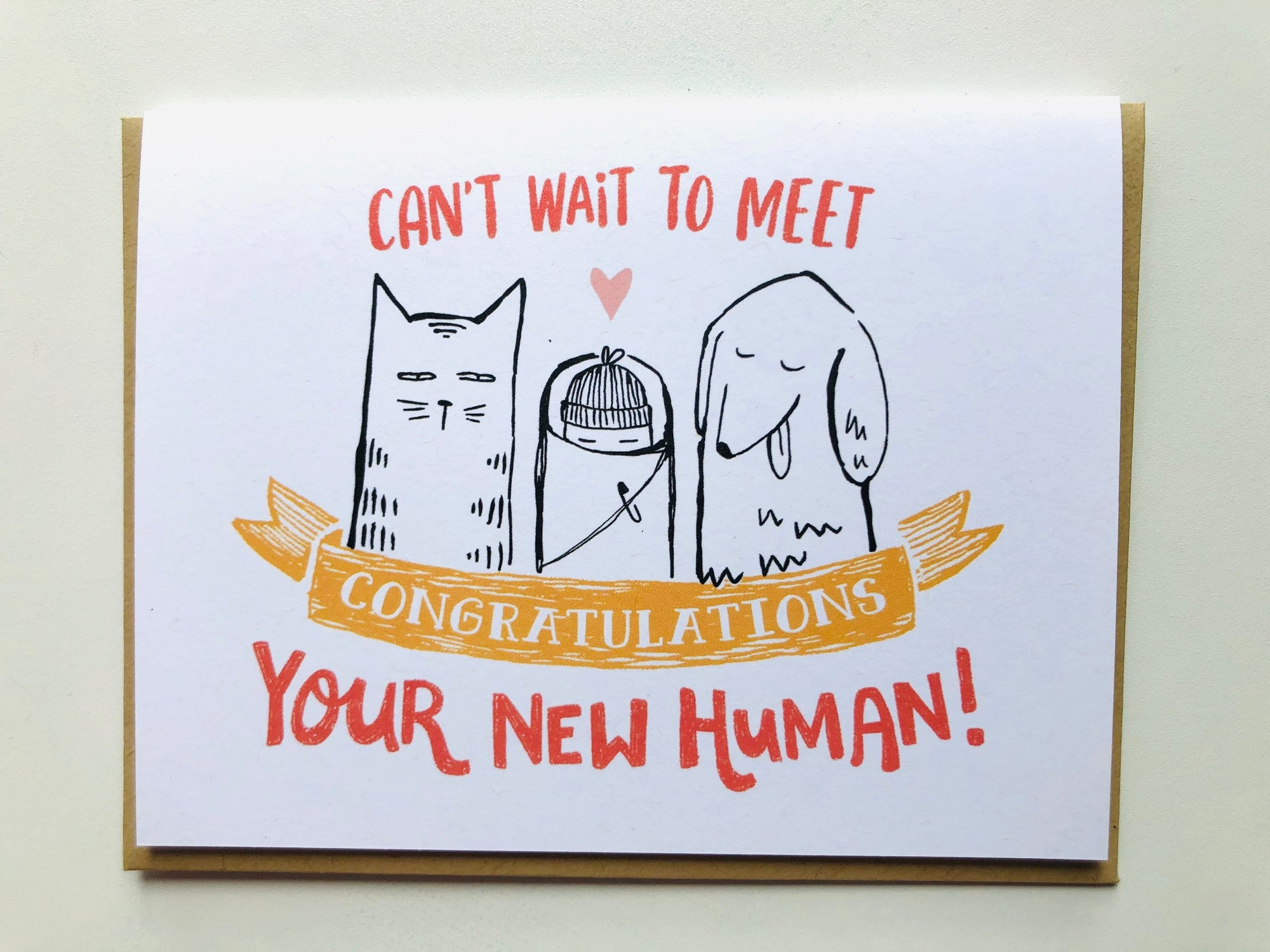 Your New Human Baby Card
