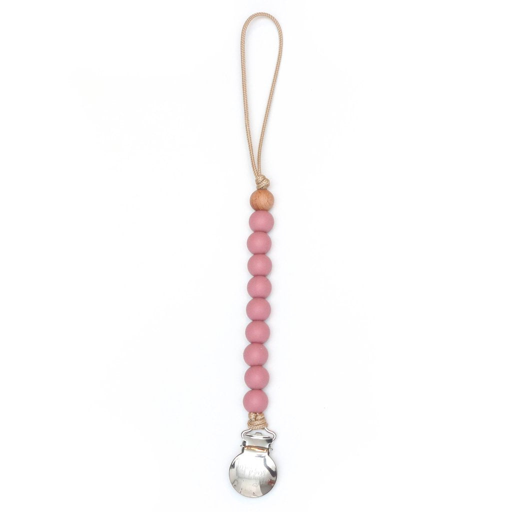 Pacifier Clip - Asher - Blush
