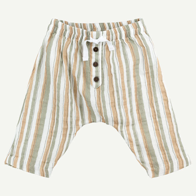Oliver & Rain Lion Stripe Baby Pants