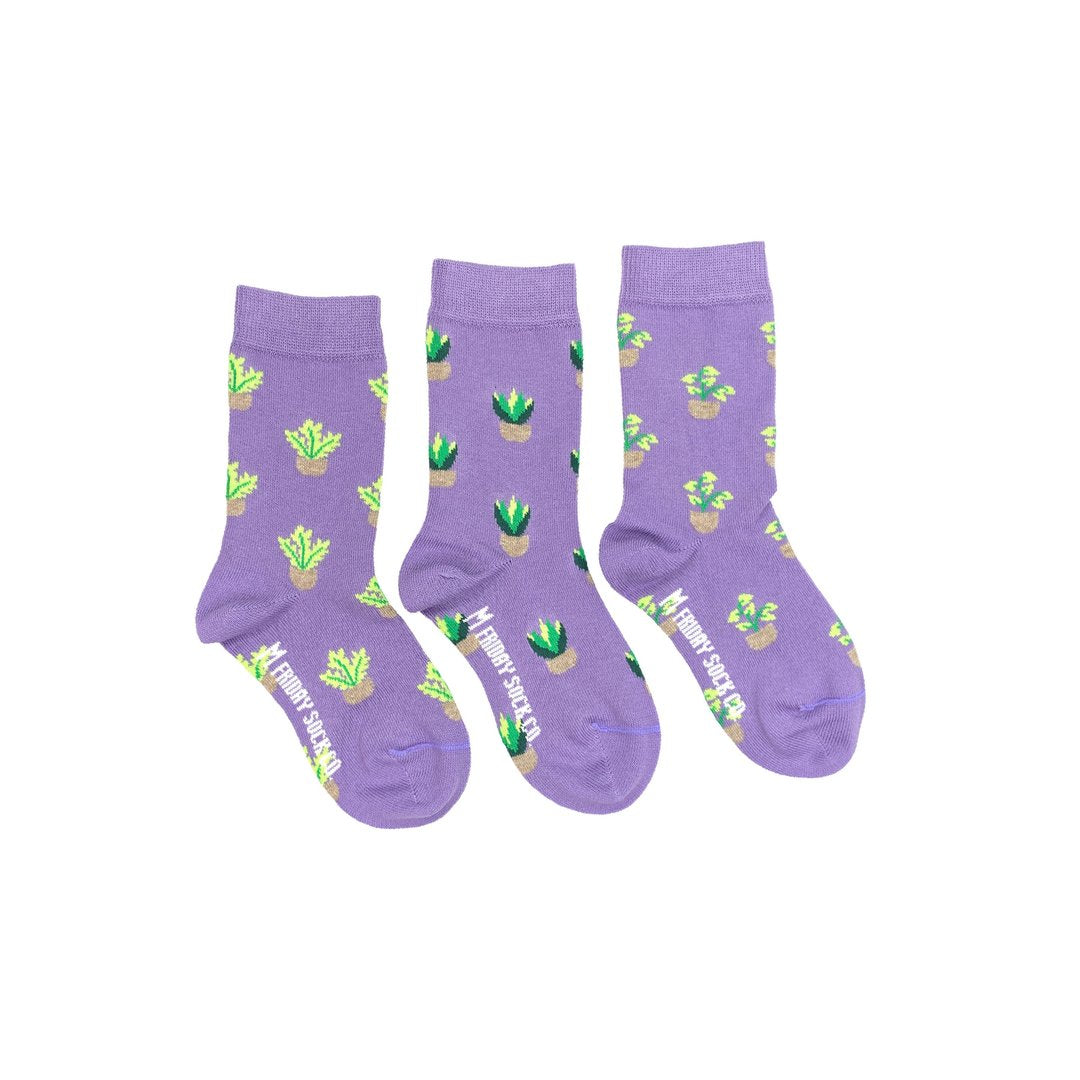 Friday Sock Co. Kid's Socks | Plants | Mismatched