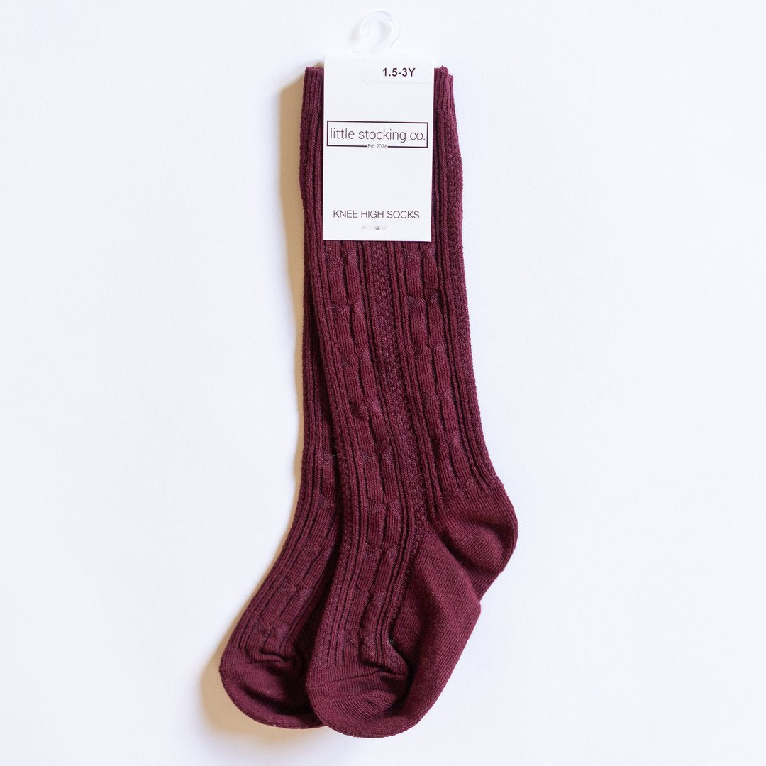 Little Stocking Co. Knee High Socks - Wine