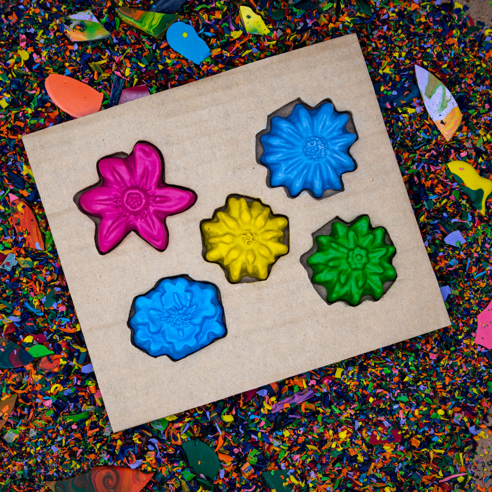 Crazy Crayons Flower Crayon Set - Solid Set