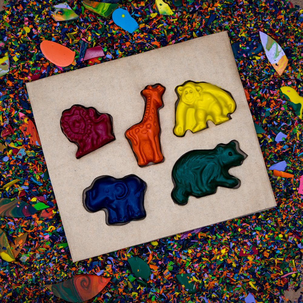 Crazy Crayons Zoo Crayon Set - Solid Set