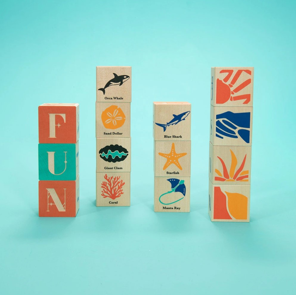 Uncle Goose Ocean Blocks - Made in Michigan