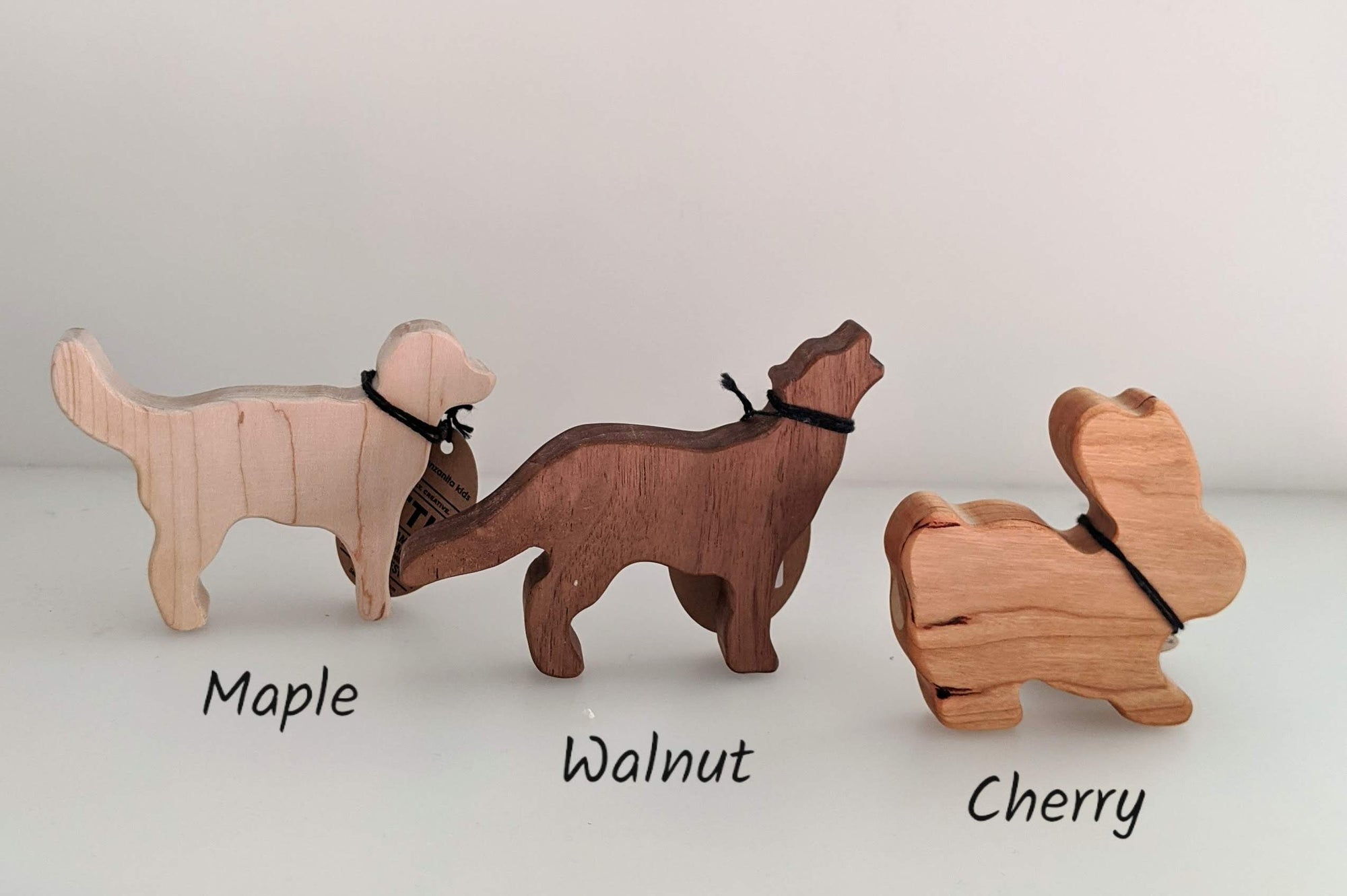 Manzanita Kids Wooden Rattle - Wolf