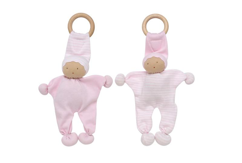Under the Nile Baby Buddy Teething Toy 2pk - Pink