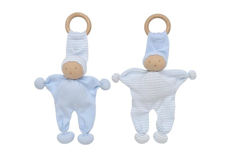 Under the Nile Baby Buddy Teething Toy 2pk - Blue