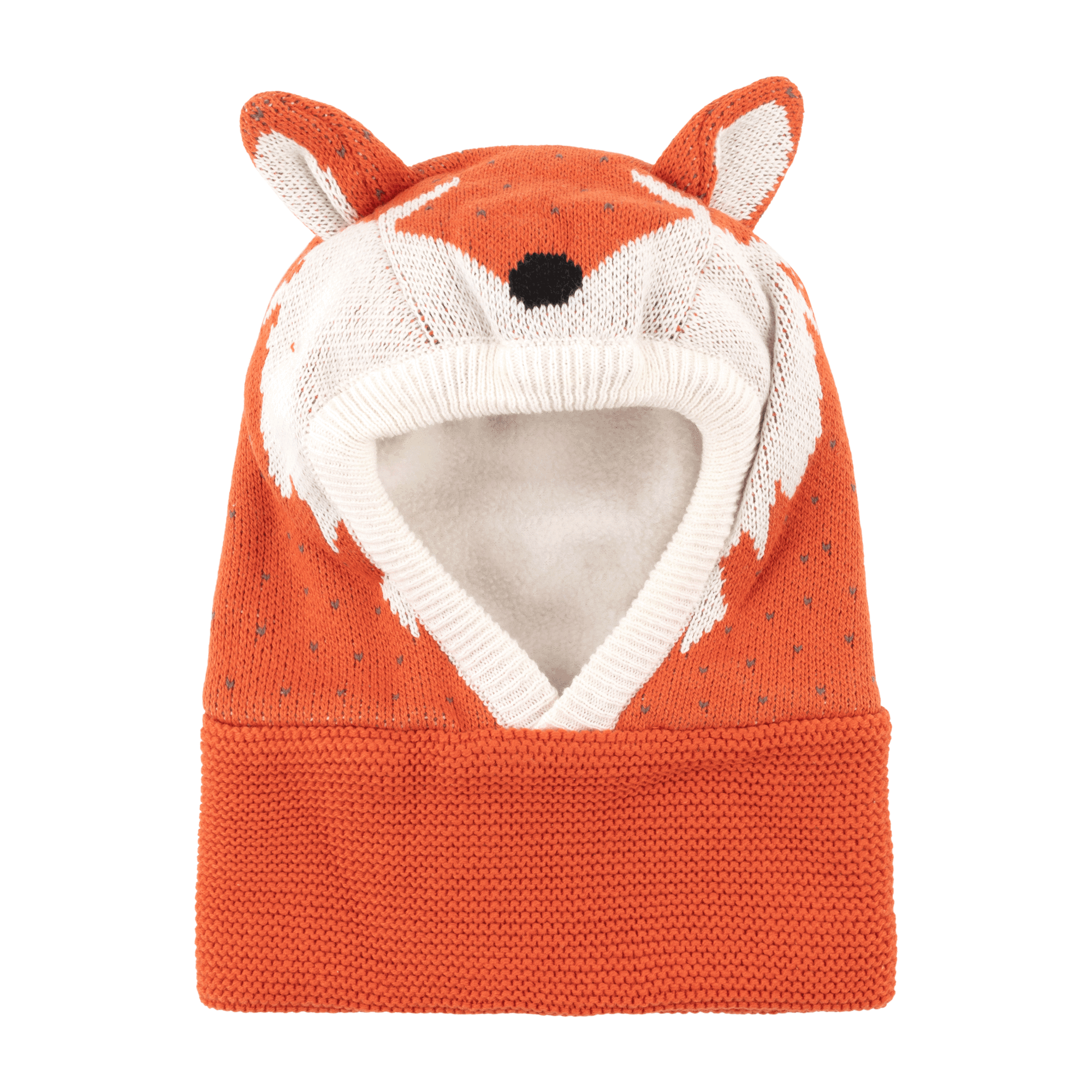 ZOOCCHINI Baby / Toddler Knit Balaclava Hat - Fox