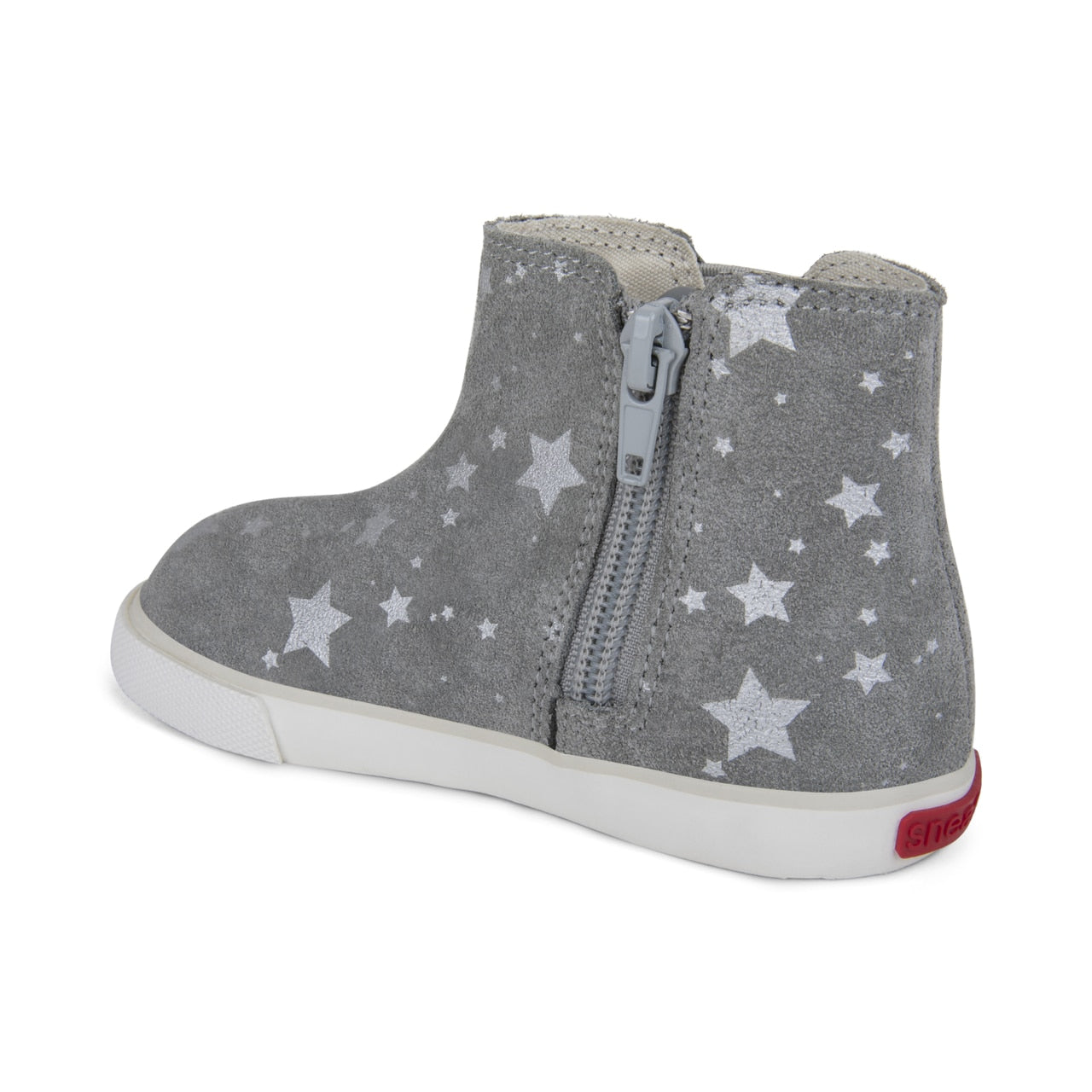 See Kai Run Keegan Ankle Boot - Grey Suede Stars