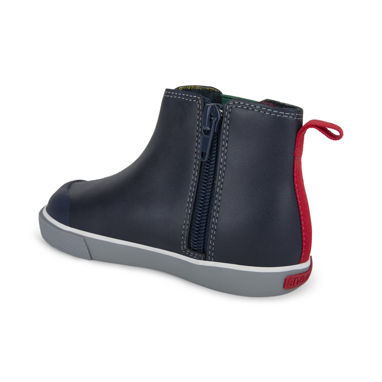 See Kai Run Kirby Ankle Boot - Navy Leather