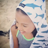 Luv Bug Hooded Sunscreen Towel - Shark