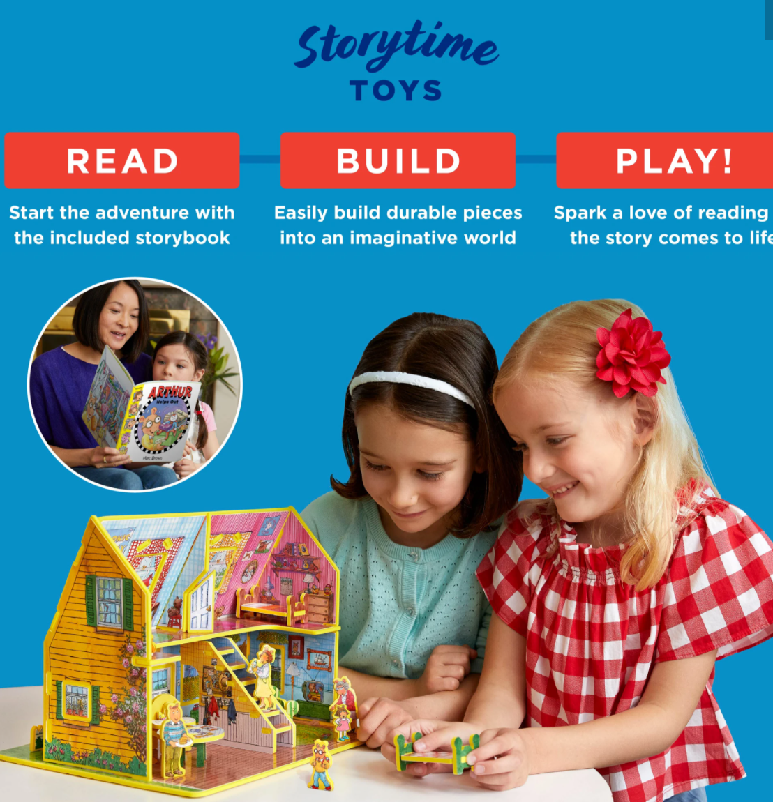 "Storytime Toys ""Arthur's Toy House"" Book and Play Set"