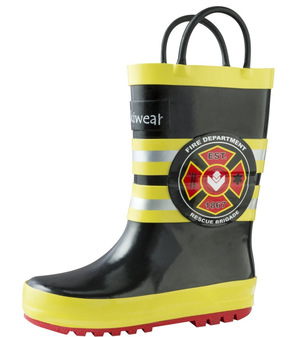 Oakiwear Loop Handle Rubber Rain Boots - Fireman Rescue