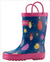 Oakiwear Loop Handle Rubber Rain Boots - Bees, Beatles & Ladybugs