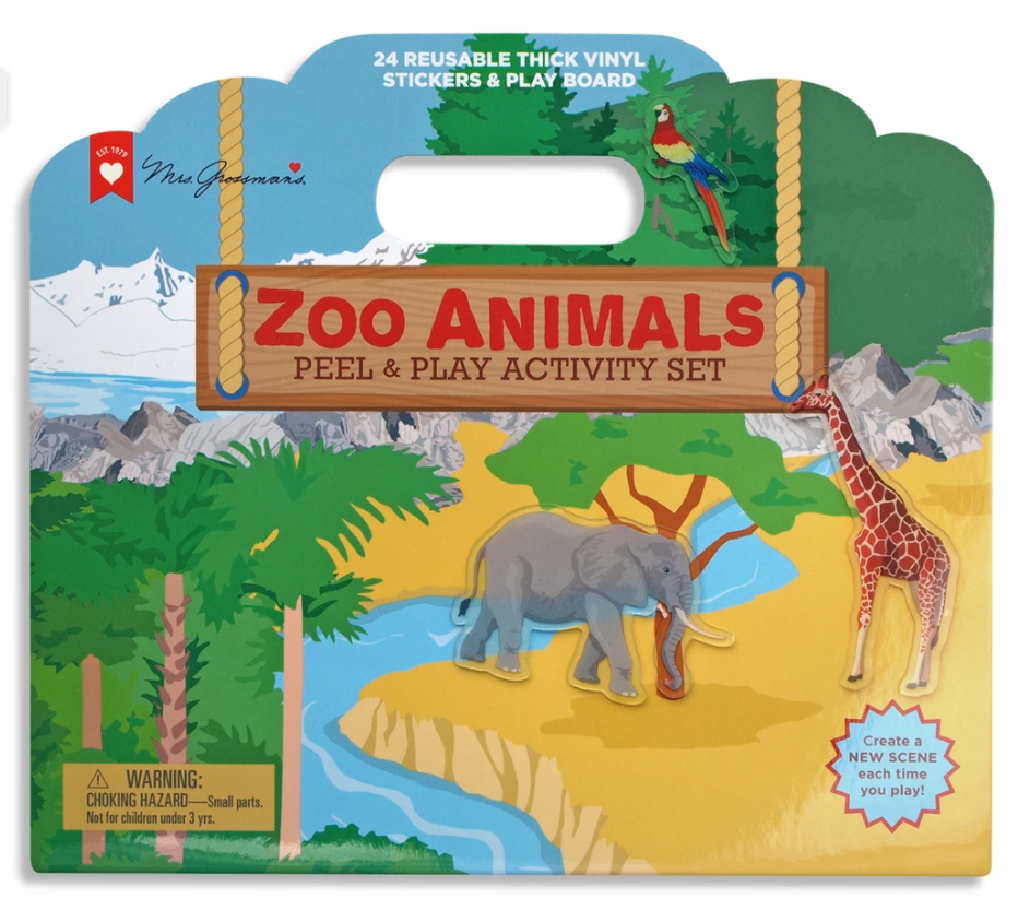 Mrs. Grossman's Peel & Play Activity Set - Zoo Animals