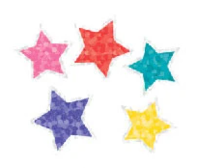 Mrs. Grossman's Stickers / Half sheet - Sparkle/Glitter Jewel Stars