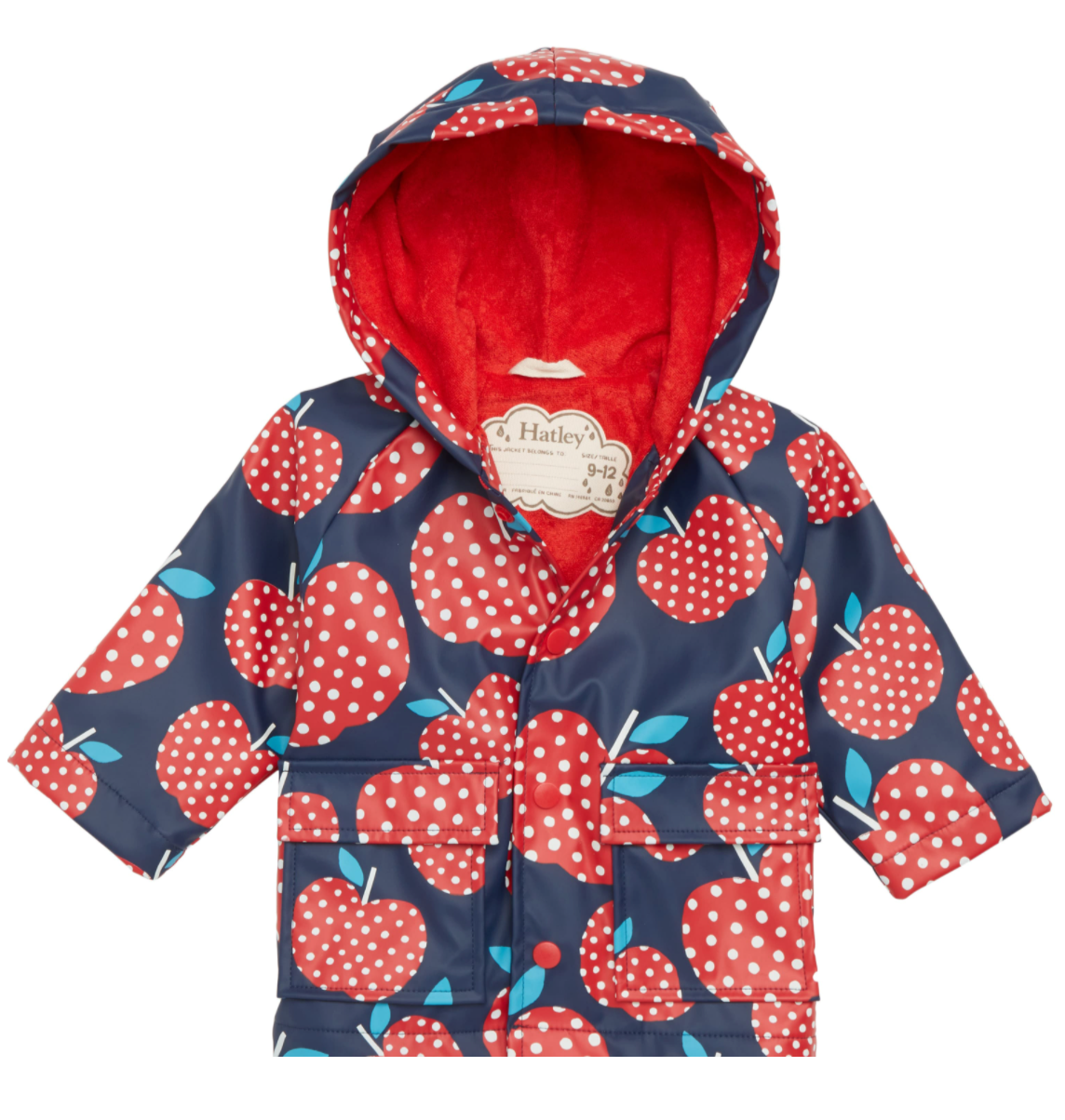 Hatley Baby Raincoat - Polka Dot Apples