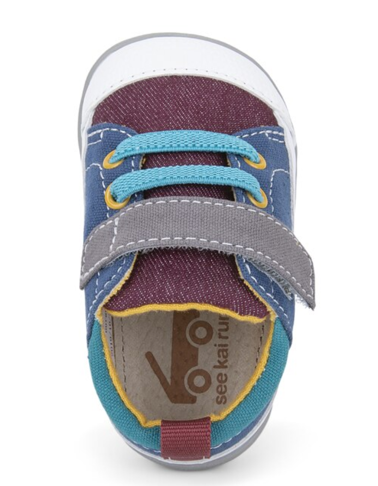 See Kai Run Stevie II Infant Burgundy Blue