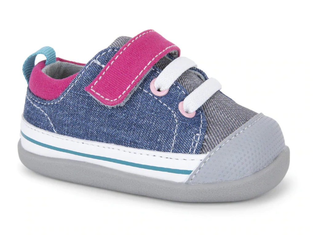 See Kai Run Stevie II Infant Blue Gray Pink