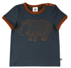 Müsli Organic Cotton Short Sleeve Rhino Print T-shirt in Midnight