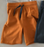 Green Cotton Organic Alfa Shorts in Caramel