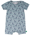 Green Cotton Organic Beach Body Romper With All Over Koala Print
