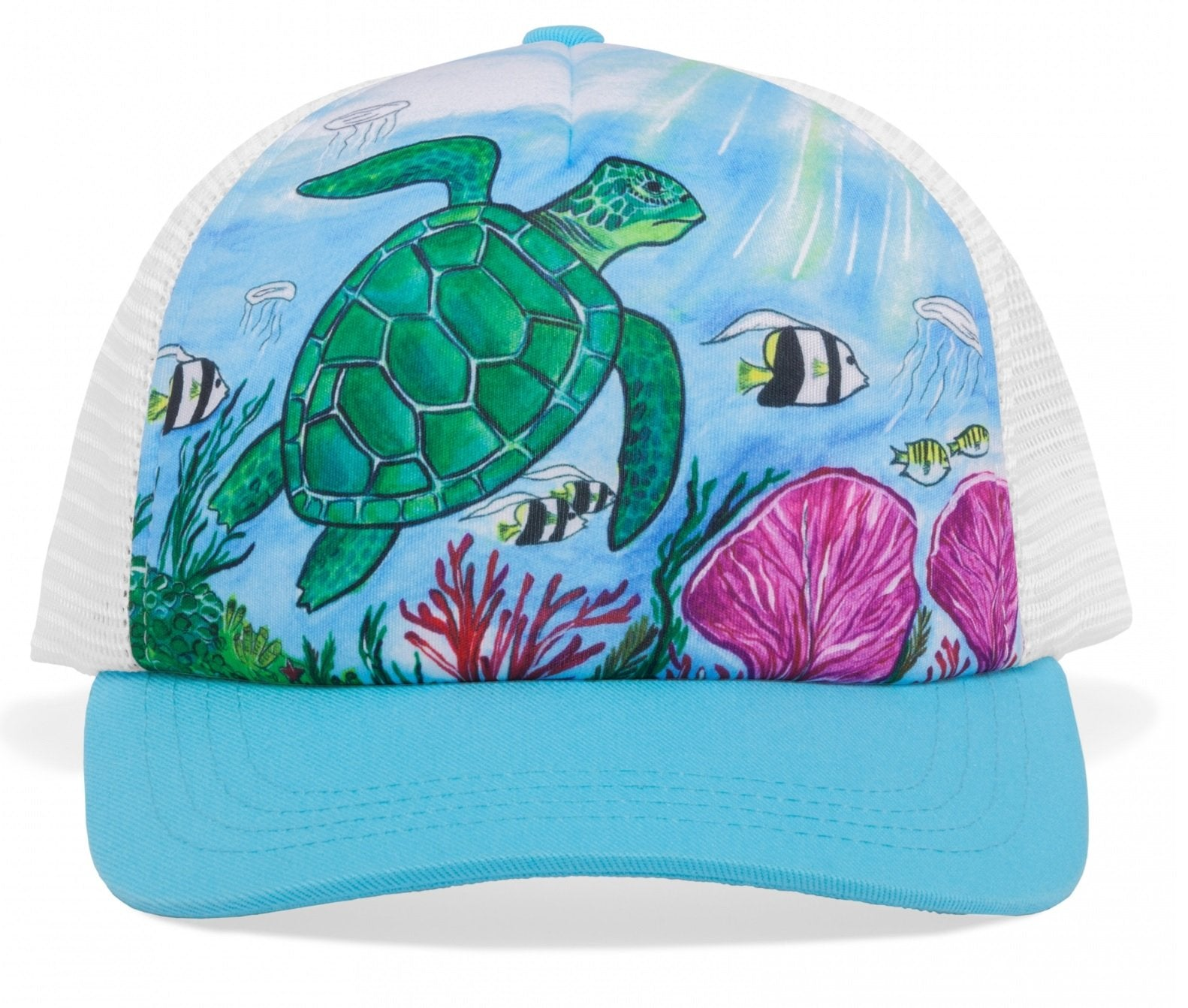 Sunday Afternoons Kids' Cooling Trucker Hat - Sea Turtles