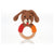 Pebble Wooden Teething Ring Rattle - Dog Boy