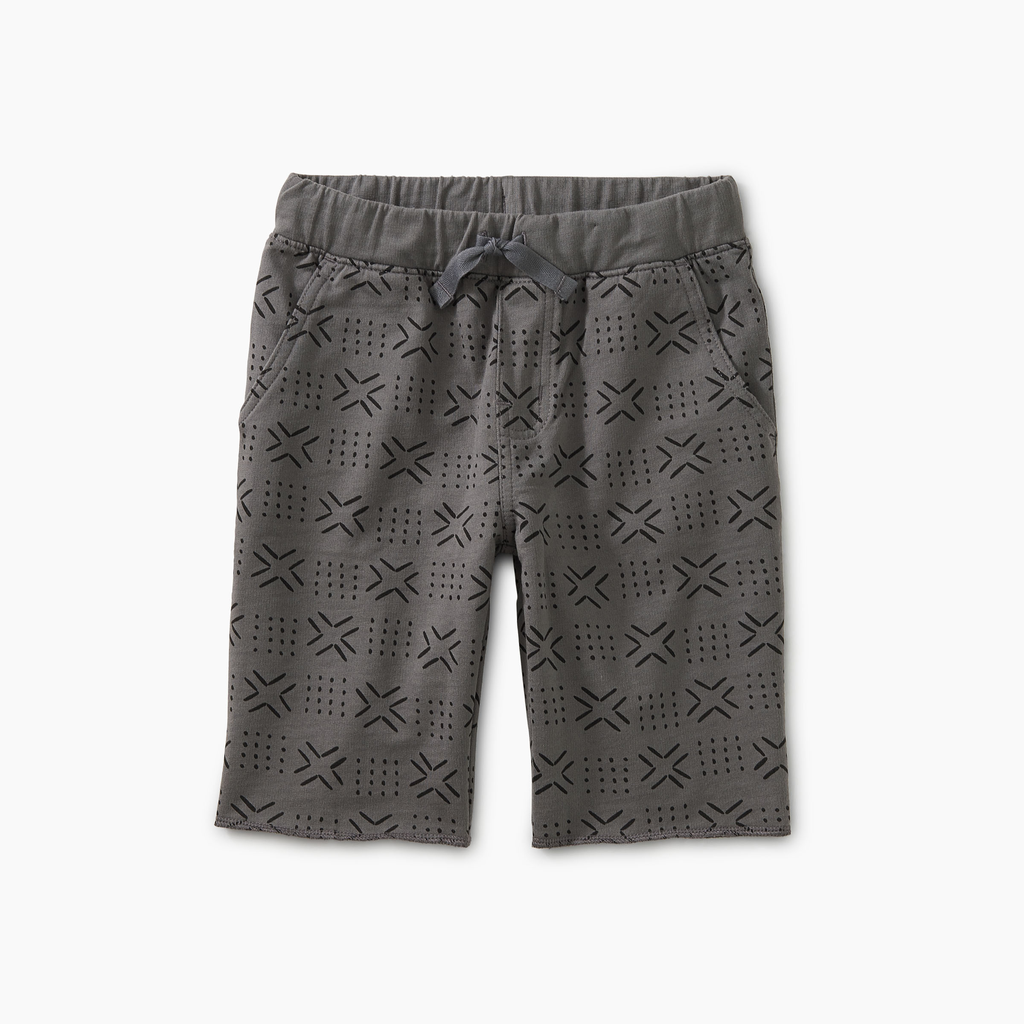 Tea Collection Pattern Cruiser Shorts - Basketweave Geo