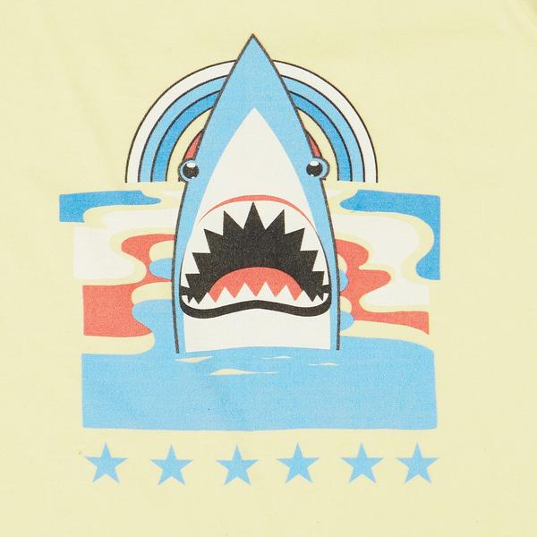 Art & Eden Organic Cotton Freddie T-Shirt - Sunny Yellow Shark
