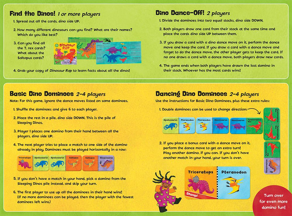 Dancing Dinos Dominoes Game