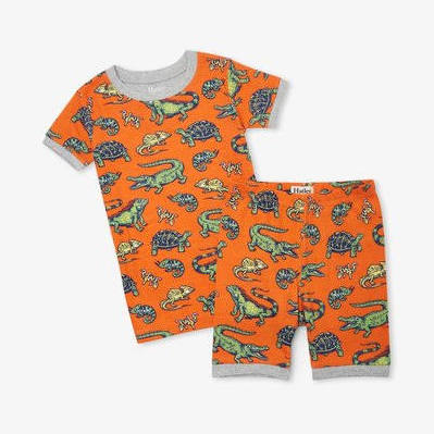 Hatley Aquatic Reptiles Organic Cotton Short Pajama Set