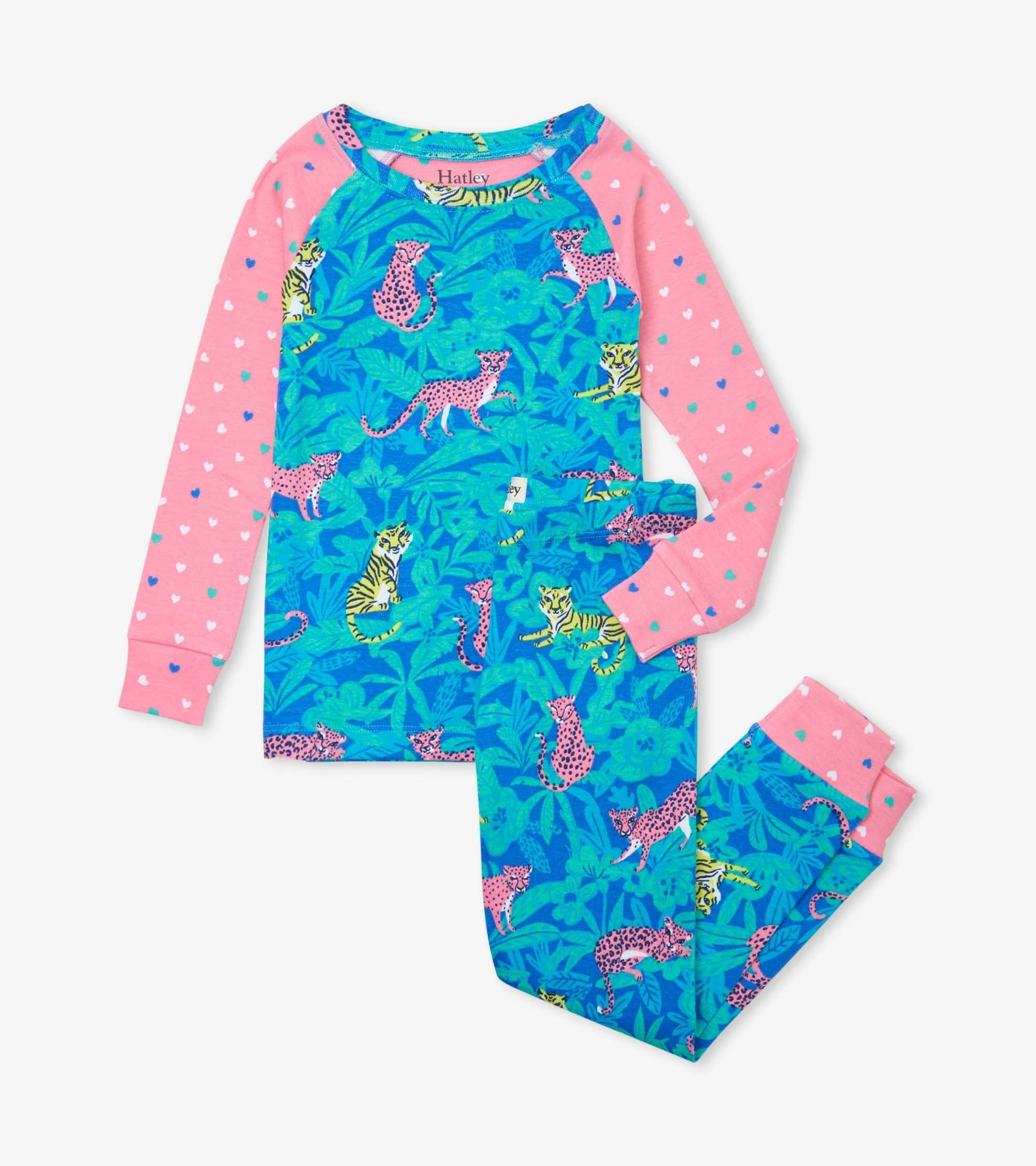 Hatley Jungle Cats Organic Cotton Raglan Pajama Set