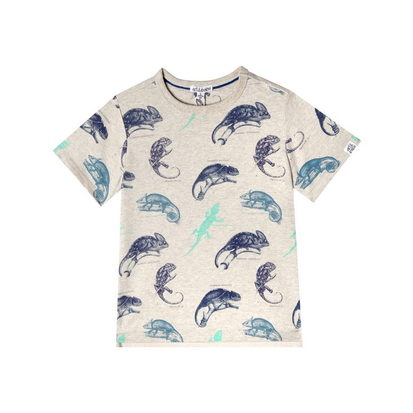 Art & Eden Organic Cotton Logan T-shirt - Reptile Life