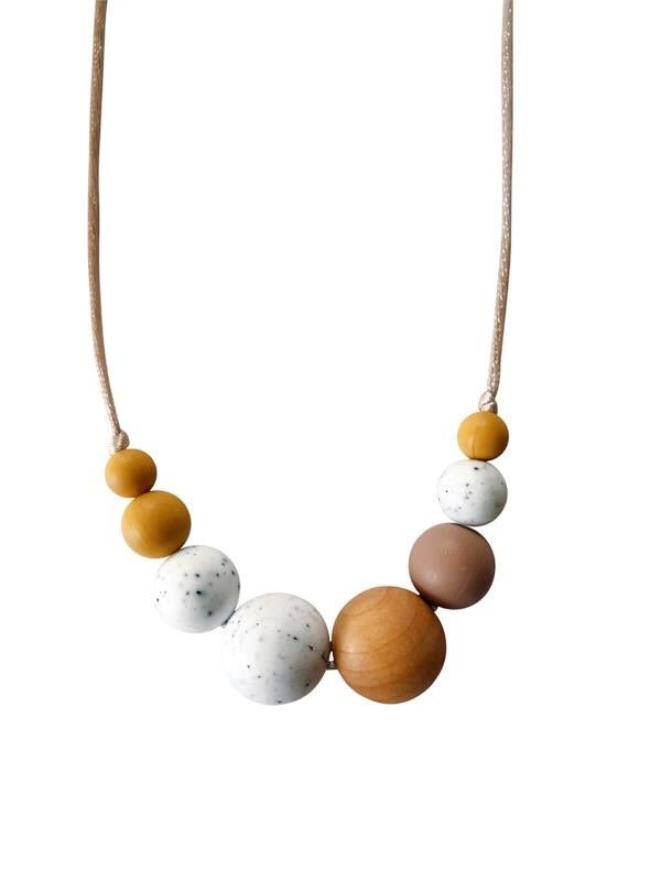 Chewable Charm The Mckenzie Teething Necklace - Moonstone