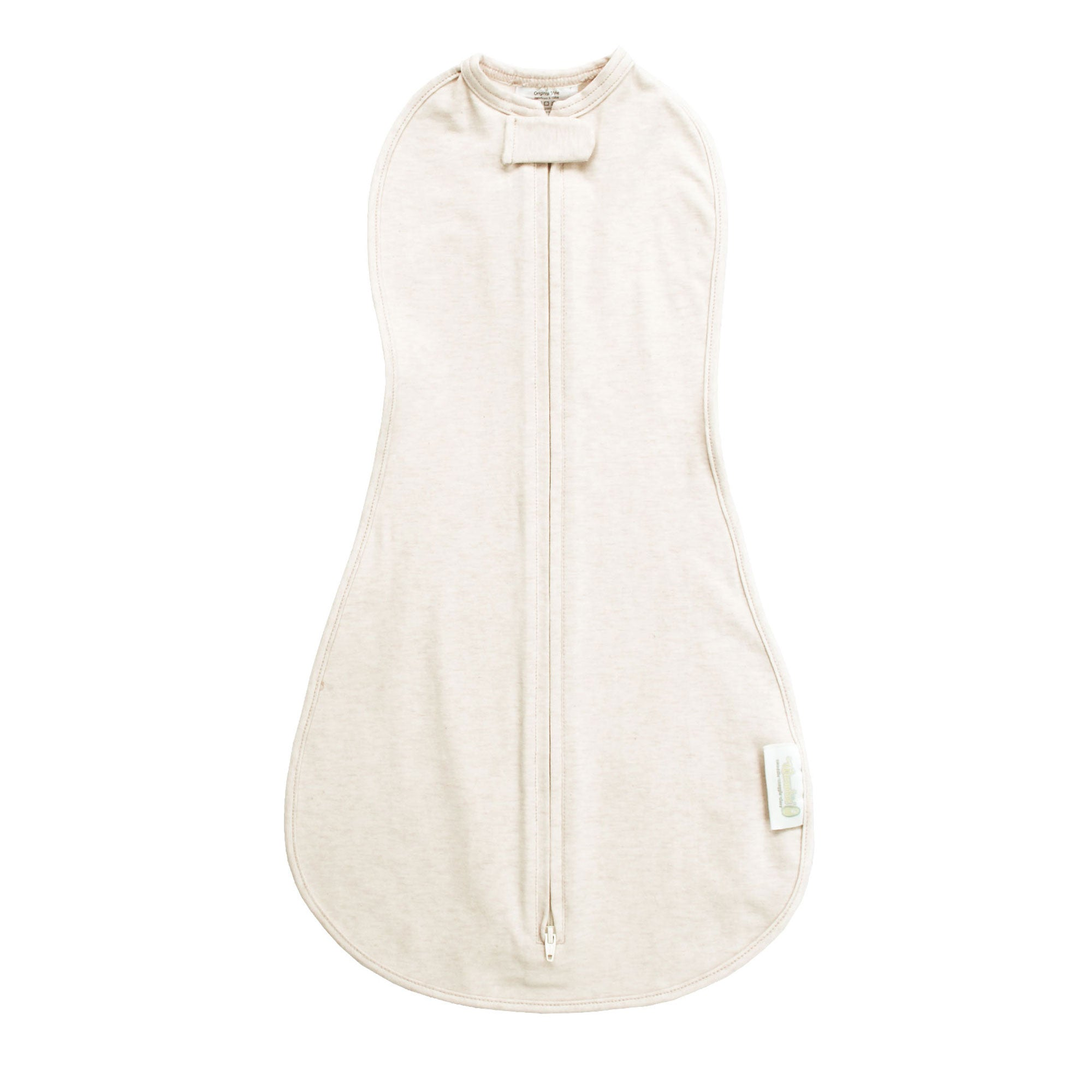 Woombie Organic Baby Swaddle - Vintage Linen Cream