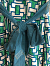 Mata Traders Teal Geo Tie Dress - X-Small