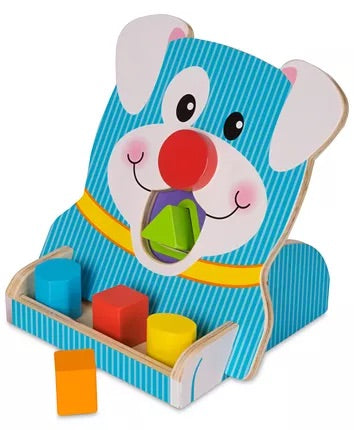 Resale Melissa & Doug First Play Wooden Spin & Feed Shape Sorter