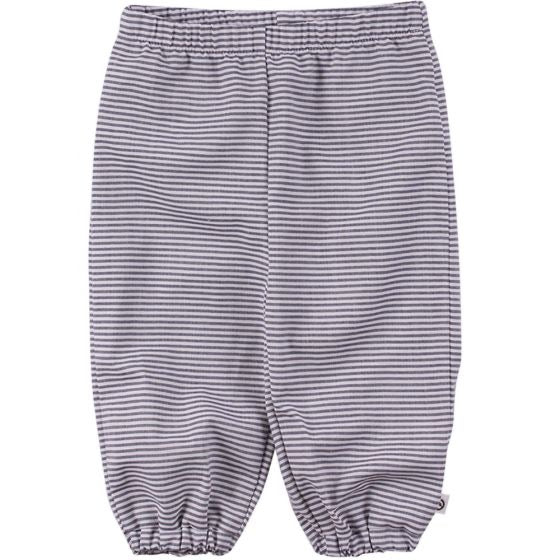 Müsli Organic Cotton Woven Stripe Pants - White/Blue Stripe