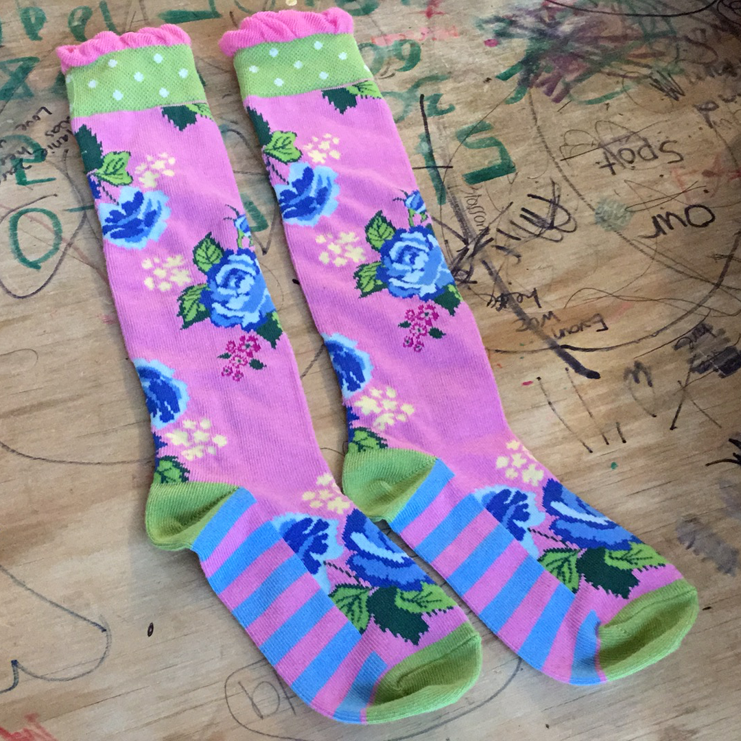 Resale Matilda Jane Spring in Your Step Floral Socks