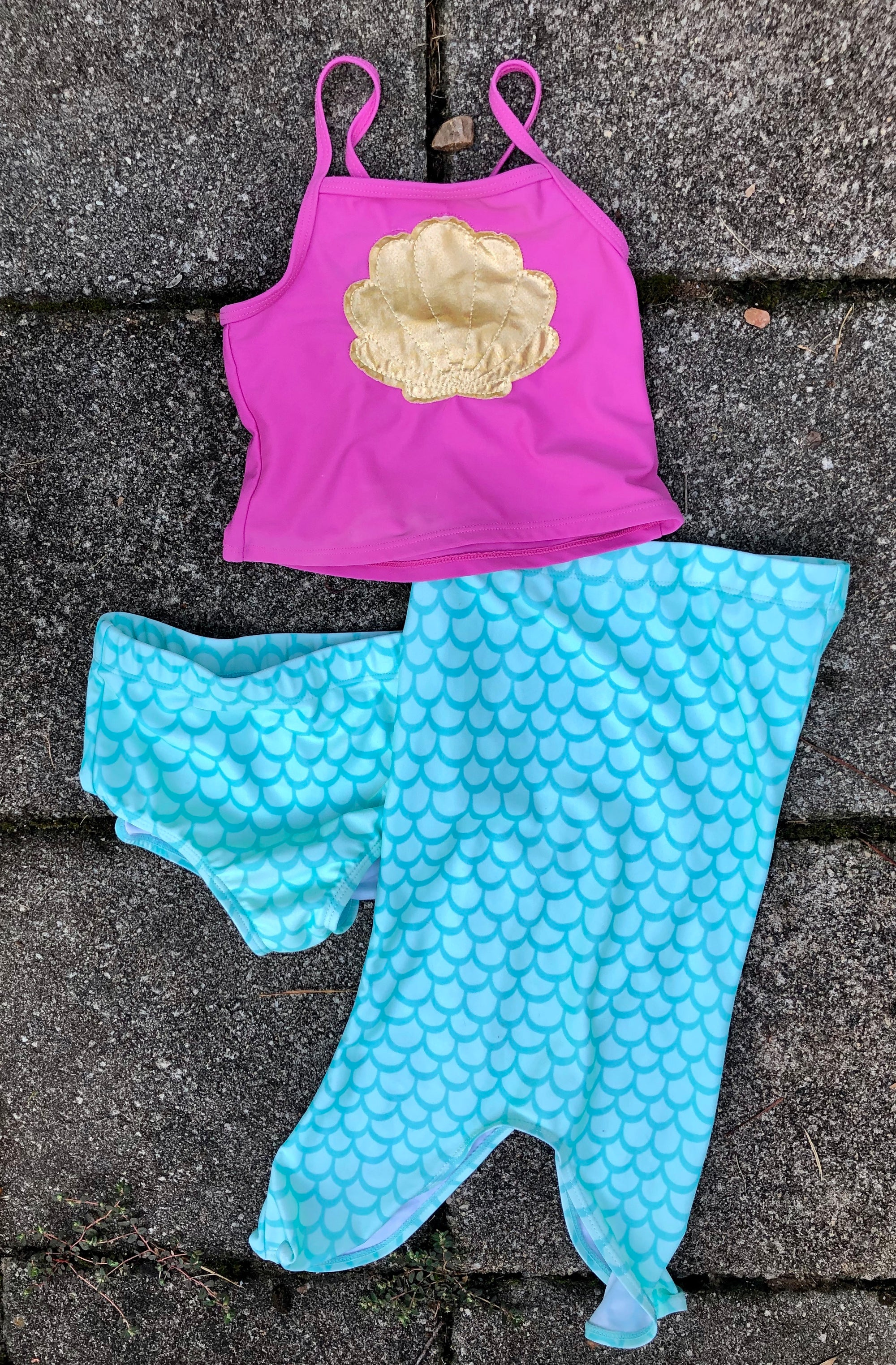 Resale 4T Flap Happy Mermaid Swimsuit - 3 piece