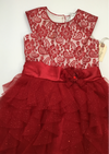 Resale 4T Jona Michelle Red Holiday / Party Dress