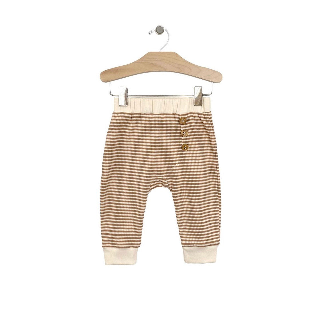 City Mouse Rib Stripe Pant - Hazelnut