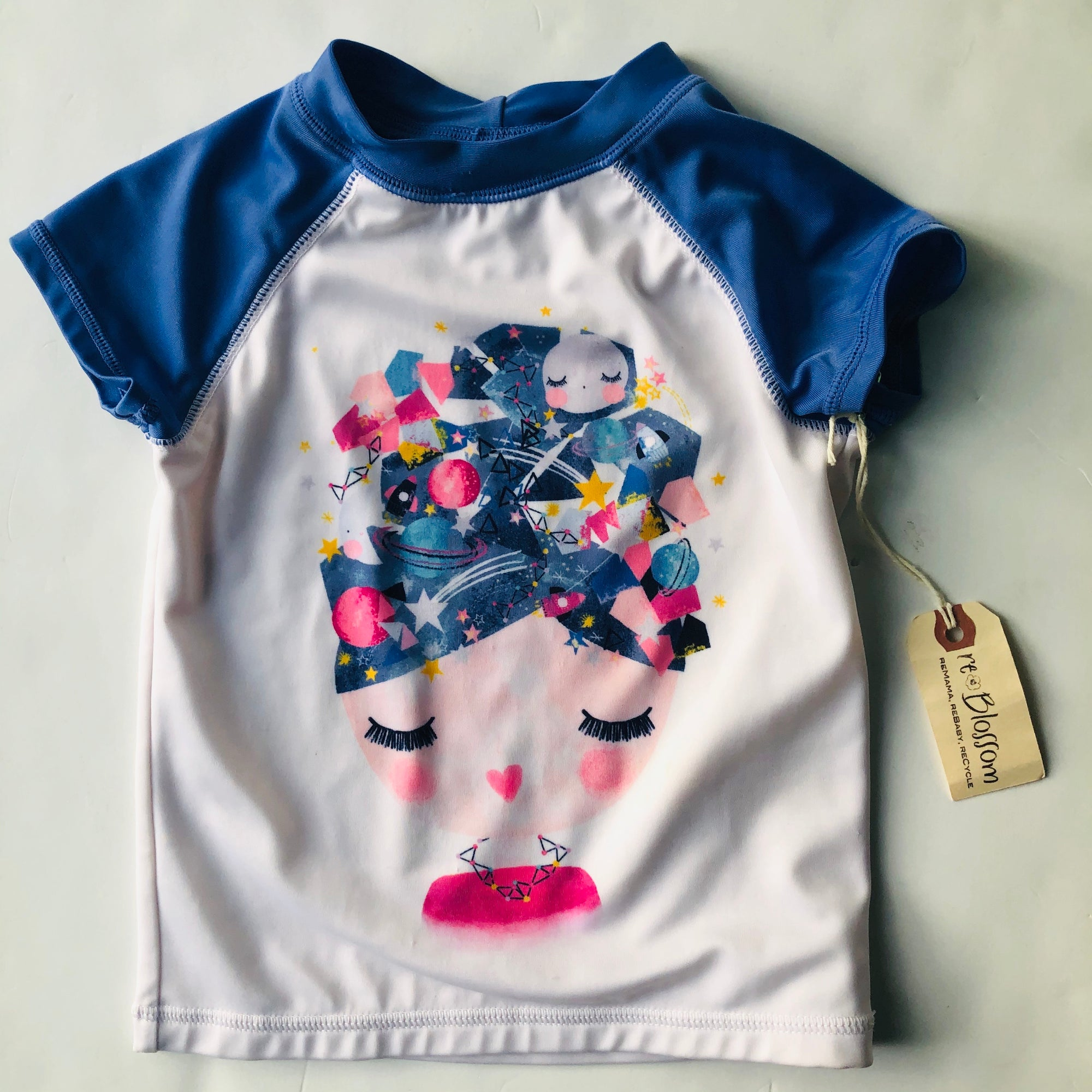 Resale 4T Gymboree Space Girl Rash Guard