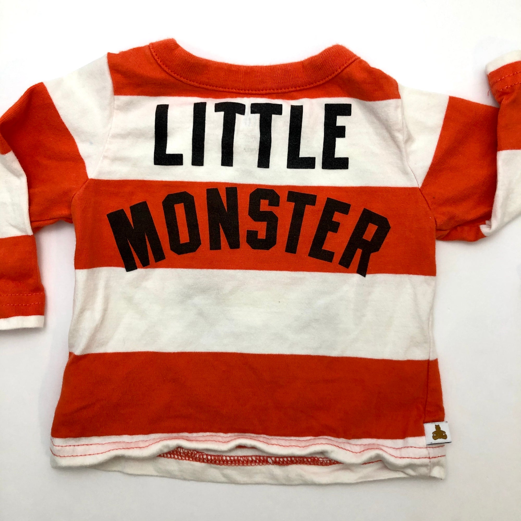Resale 3-6 m Gap Monster Bodysuit & Orange Striped Monster Shirt