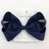Bows for Belles Large Solid Bow - Navy