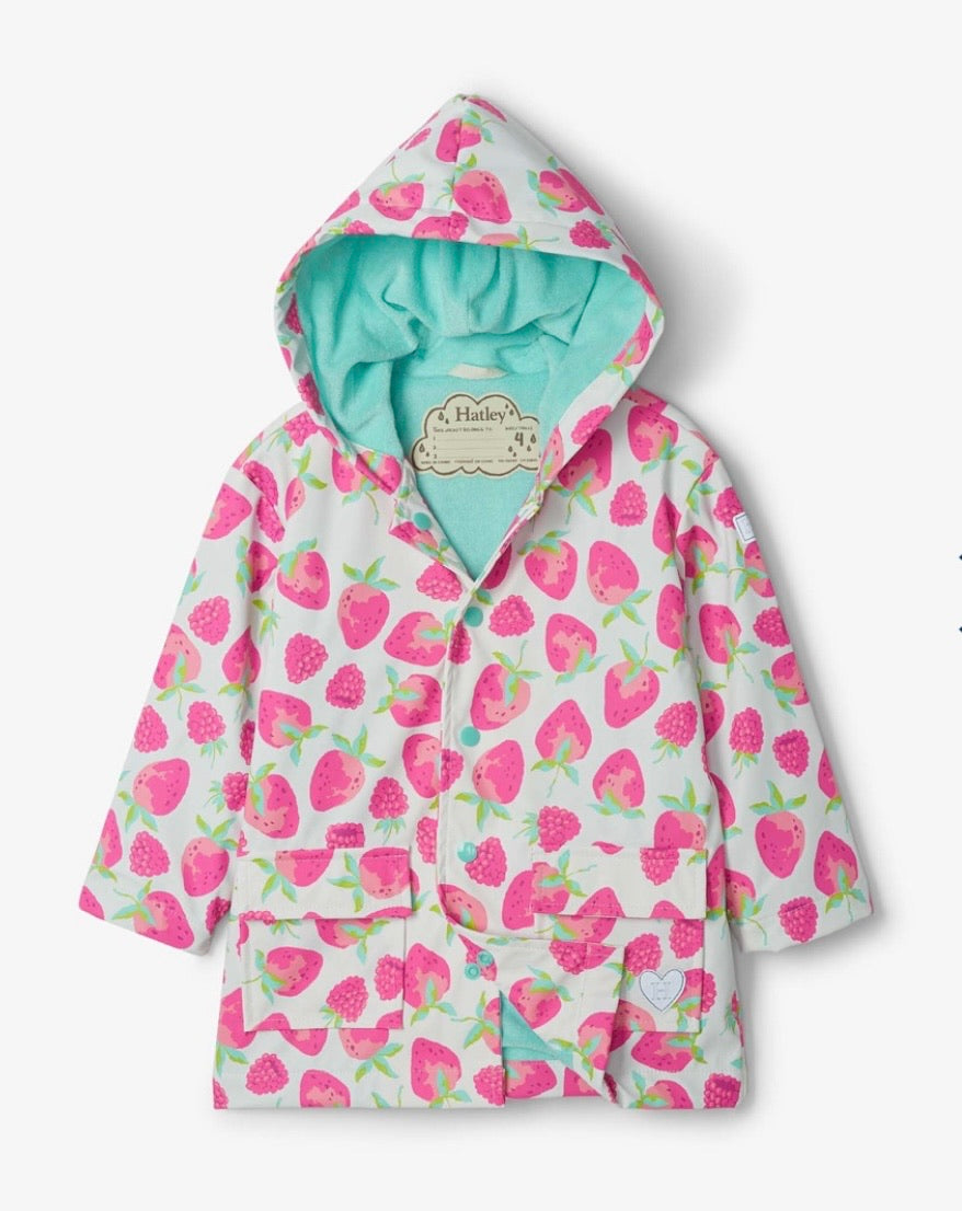 Hatley Delicious Berries Raincoat - Clear