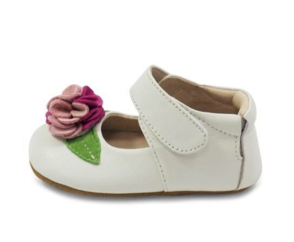 Livie & Luca Rosa Crib Shoe - Milk
