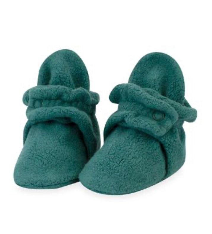 Zutano Cozie Fleece Booties - Fern